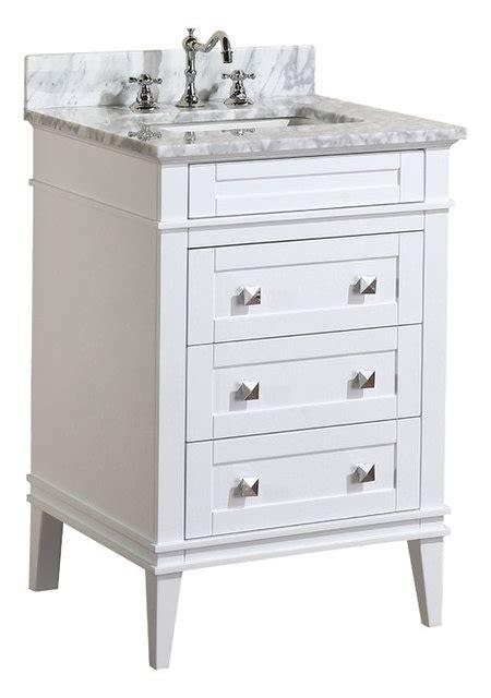 Eleanor Bathroom Vanity With Carrara Top Traditional