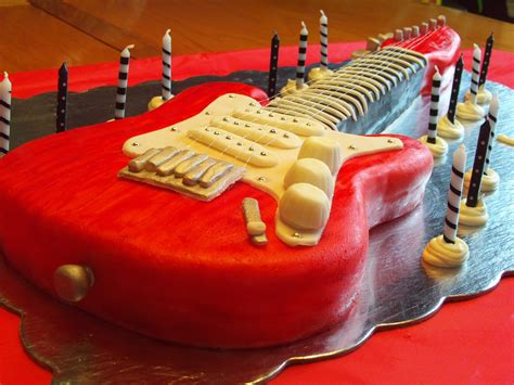 Electric Guitar Cake 6 Steps with Pictures Instructables