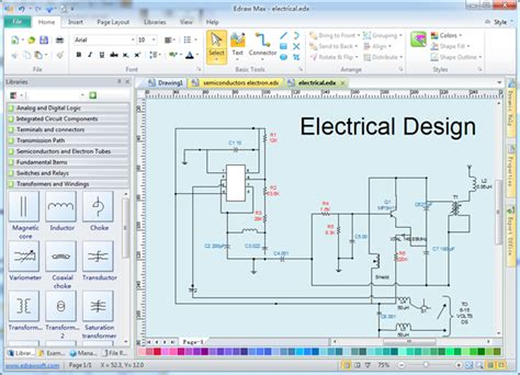 Electrical Diagram Software – Create An Electrical Diagram Easily ...