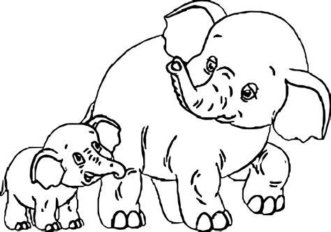 Elephant Coloring Page ReallyColor