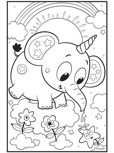 Elephant Coloring Page crayola