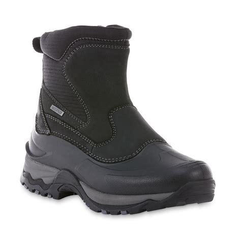 Elk Woods Men s Jasper Black Waterproof Winter Boot