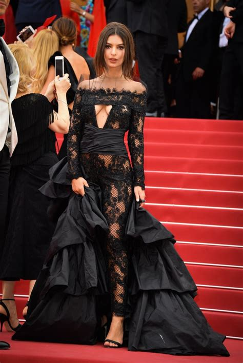 Emily Ratajkowski Wears Jumpsuit to 2017 Cannes Red Carpet