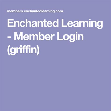 Enchanted Learning Member Login