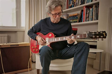 Eric Clapton Tries Out Guitars at Home and Talks About the
