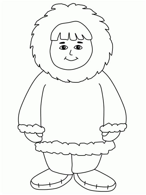 Eskimo Coloring Pages GetColoringPages