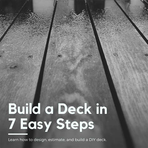 Estimate and Build a Deck in 7 easy steps Dengarden