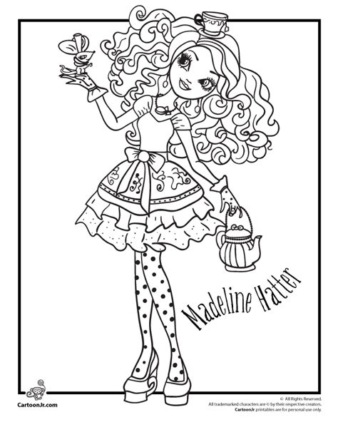 Ever After High Coloring Pages Woo Jr Kids Activities