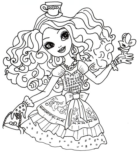 Ever After High Madeline Hatter coloring page Free