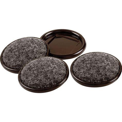 Everbilt 2 in Metal Furniture Cups with Carpet Base 4