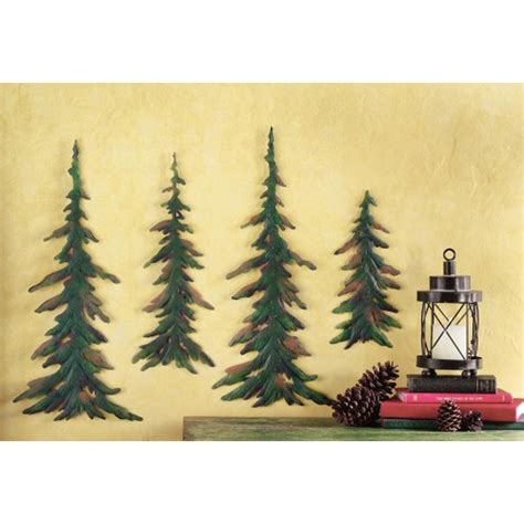 Evergreen Pine Tree Metal Wall Decor Set Collections Etc