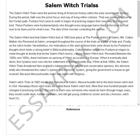 research paper outline salem witch trials