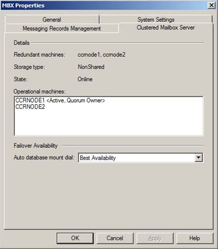 Exchange 2007 SP1 CCR Windows 2008 Clusters File Share