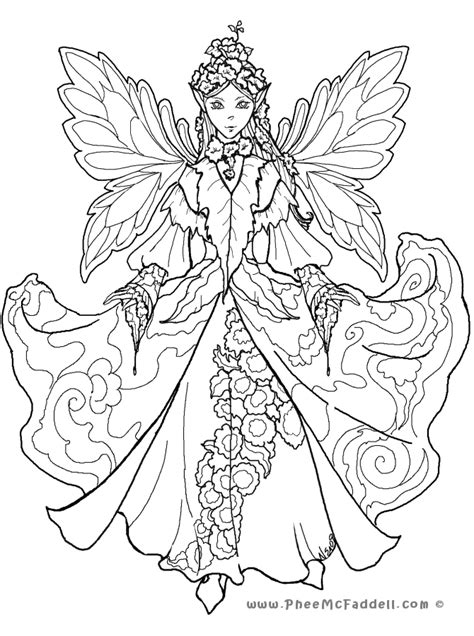 FAIRY COLORING Pages Free Download Printable