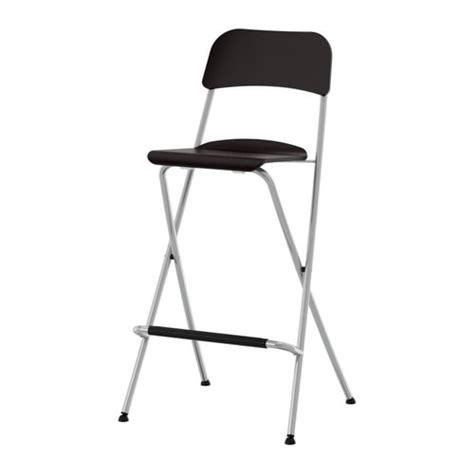 FRANKLIN Bar stool with backrest foldable 29 1 8 IKEA