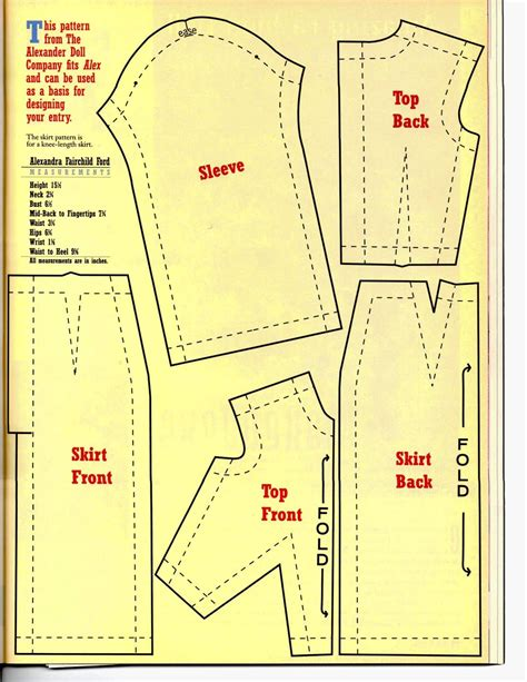 FREE Barbie Doll Clothes pattern
