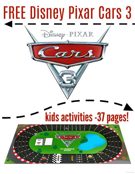 FREE Cars 3 Kids Printables 37 Pages Cars3 Raising