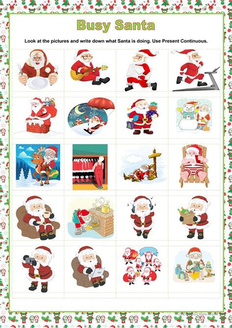 FREE Christmas Worksheets Busy Teacher