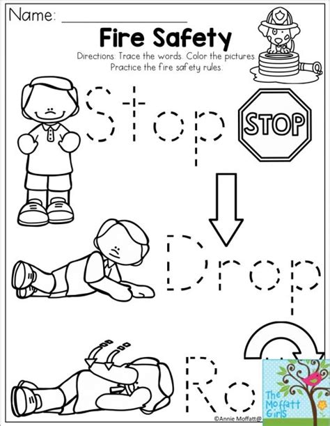 FREE Fire Safety Worksheets Busy Teacher