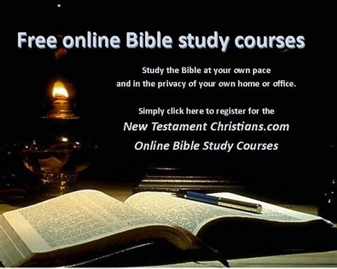FREE Online Bible Study Course