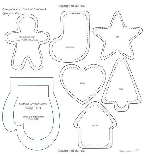 FREE Printable Christmas Felt Ornament Templates