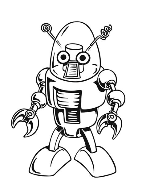 FREE Robot Coloring Sheet Pages for Kids Surviving A