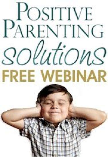 FREE WEBINAR Positive Parenting Solutions