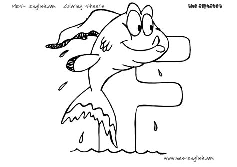 FREE alphabet coloring pages letter MES English