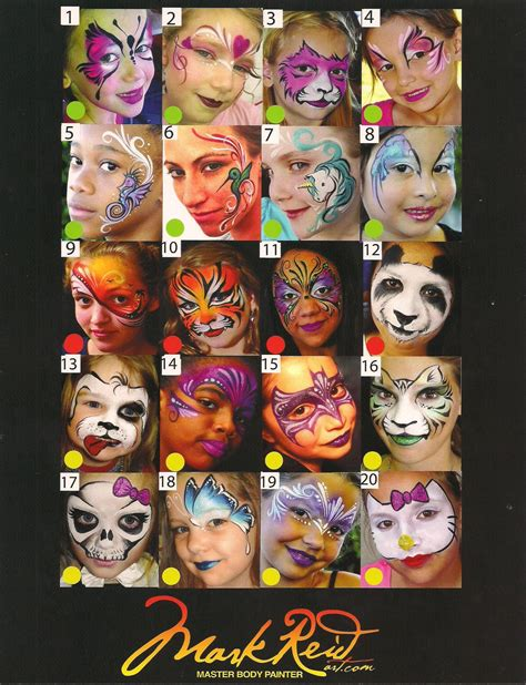 Face Art Stencils Silly Farm Supplies Inc Face Painting