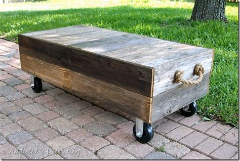 Factory Cart Style Coffee Table Addicted 2 Decorating