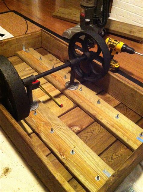 Factory Cart Table DIY Restoration Hardware Inspired