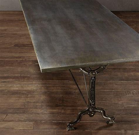 Factory Zinc Cast Iron Rectangular Dining Table