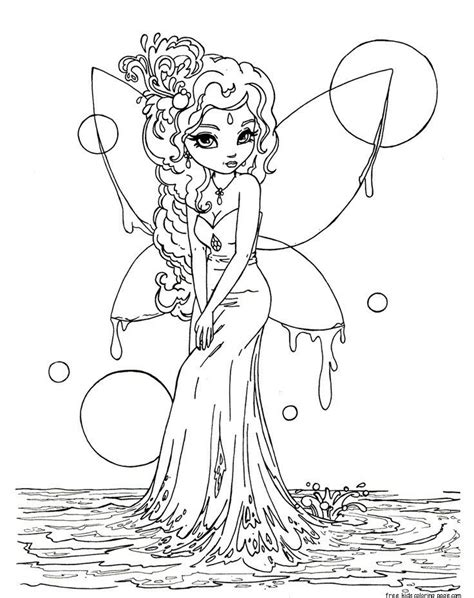 Fairy Coloring Pages Printable Free Printable Coloring Pages