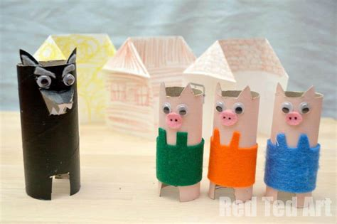 Fairy Tale Crafts 3 Little Pigs Red Ted Art s Blog