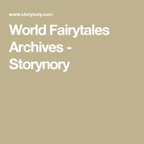Fairy Tales Archives Storynory