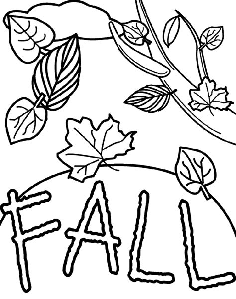 Fall Free Coloring Pages crayola