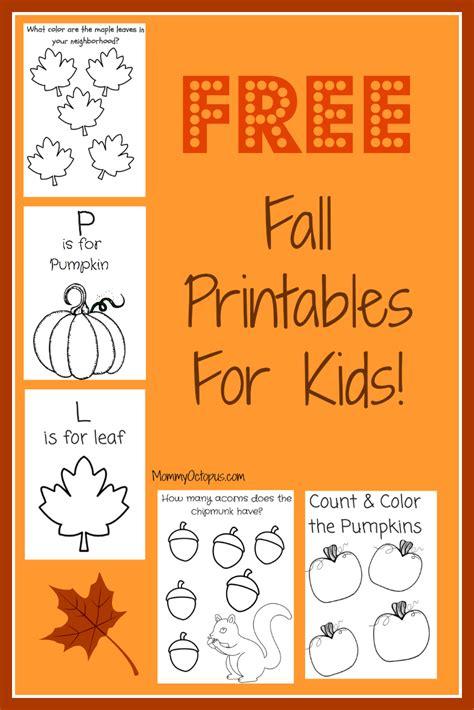 Fall Printables Making Learning Fun