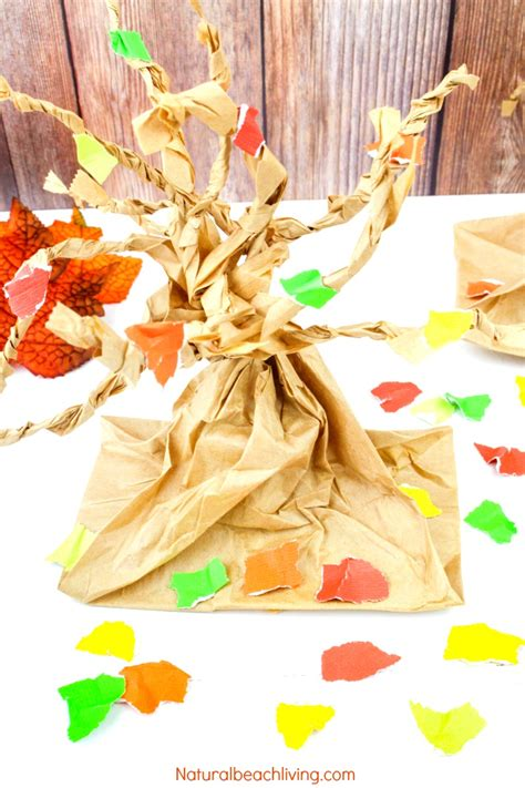 Fall Tree Paper Bag Crafts Kids Love Natural Beach Living
