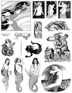 Fantasy Art Stamps Unmounted Rubber Stamp Sheets Fairy