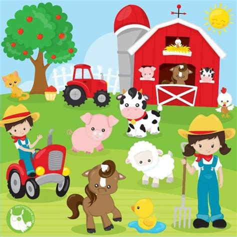 Farm Animals Digital Clip Art Clipart Commercial And