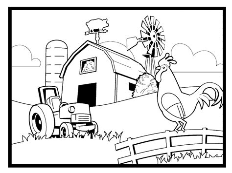 Farm Colouring Pages for Kids