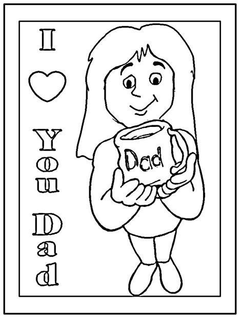Father s Day Coloring Pages dltk holidays