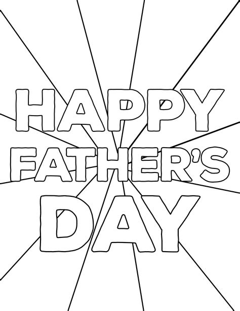 Father s Day Free Coloring Pages Who Arted