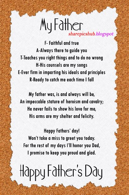 Father s Day Poems and Poetry theholidayspot