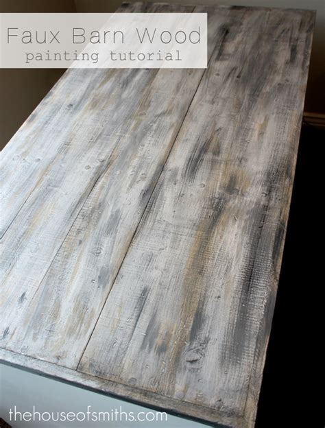 Faux Barn Wood Painting Tutorial House of Smiths