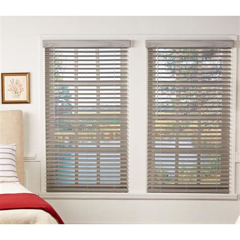 Faux Wood Blinds Custom Window Treatments