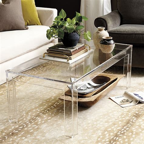 Felicity Acrylic Coffee Table Ballard Designs
