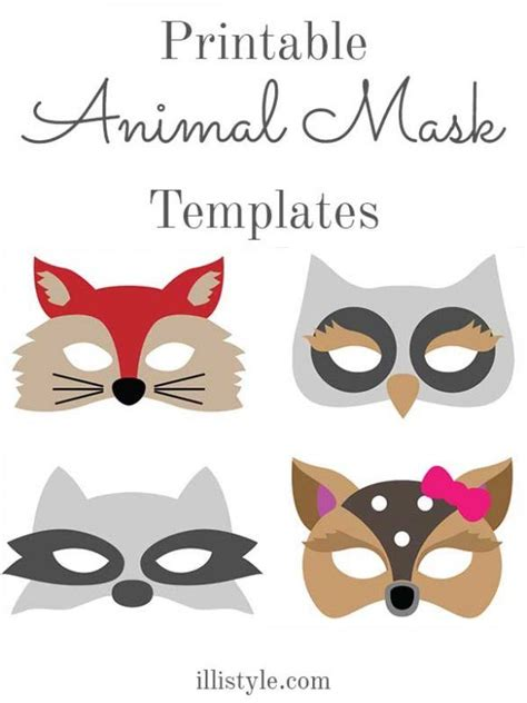 Felt Animal Mask Printable Templates illistyle