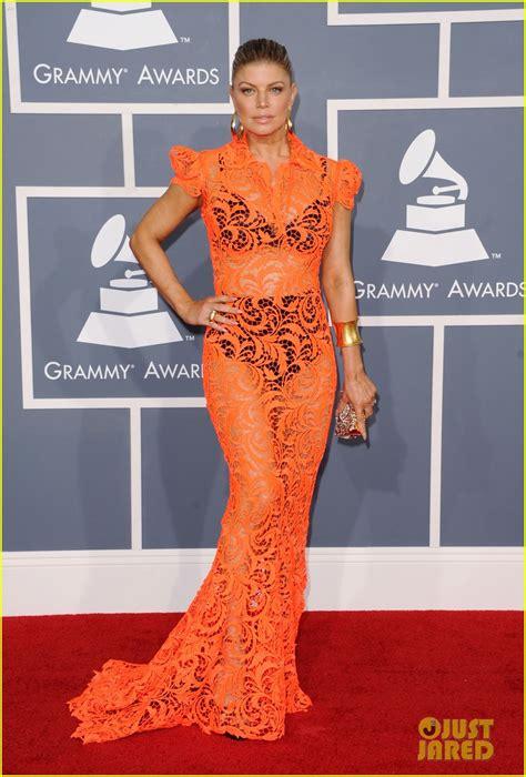 Fergie Grammys 2012 Red Carpet 2012 Grammy Awards