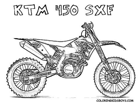 Fierce Rider Dirt Bike Coloring Dirtbikes Free